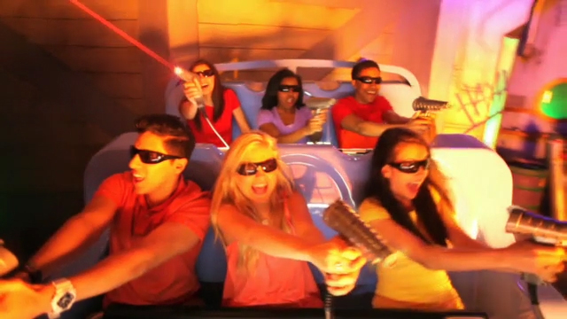 JUSTICE LEAGUE: Battle for Metropolis - The Next Generation State-of-the-Art Video Game You Can Ride - Only at Six Flags Magic Mountain