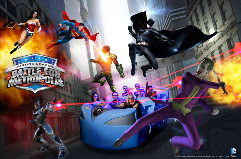 JUSTICE LEAGUE: Battle for Metropolis - The Next Generation State-of-the-Art Video Game You Can Ride - Only at Six Flags Magic Mountain (Photo: Business Wire)