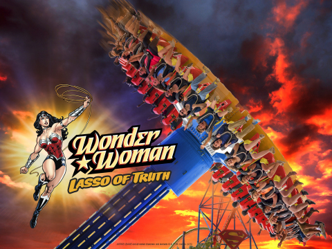 The all-new WONDER WOMAN Lasso of Truth is an extreme pendulum ride coming in 2017. (Photo: Business Wire)