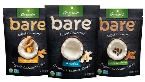 Bare Snacks Organic Coconut Chips (Photo: Business Wire)