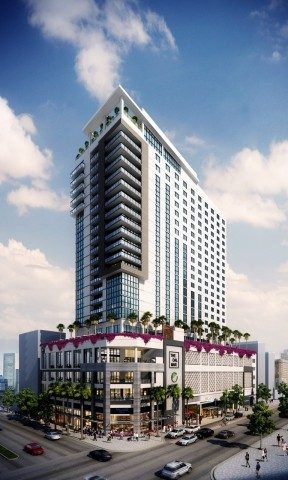 Rendering of The Dalmar and Element Hotel, Ft. Lauderdale (Graphic: Business Wire)