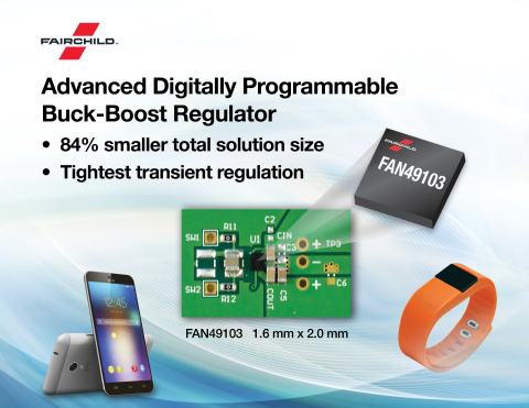 Fairchild launches FAN49103 buck-boost regulator for smartphones, tablets and other mobile devices.  ...