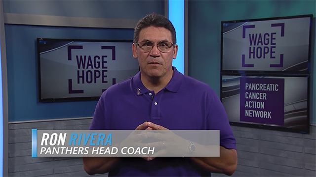 Join Head Coach Ron Rivera's efforts to tackle pancreatic cancer at your local PurpleStride event by visiting www.purplestride.org.
