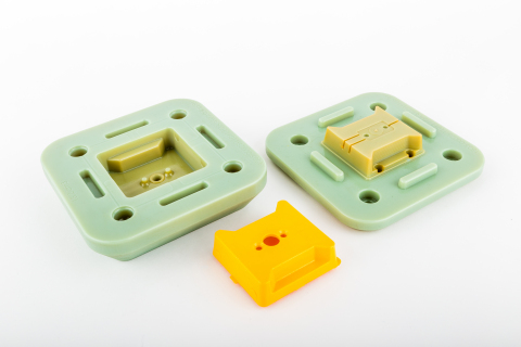 Fugro fibre optic sensor housings in PBT material produced via 3D printed injection molds on the Stratasys Objet500 Connex 3D Printer (Photo: Business Wire).