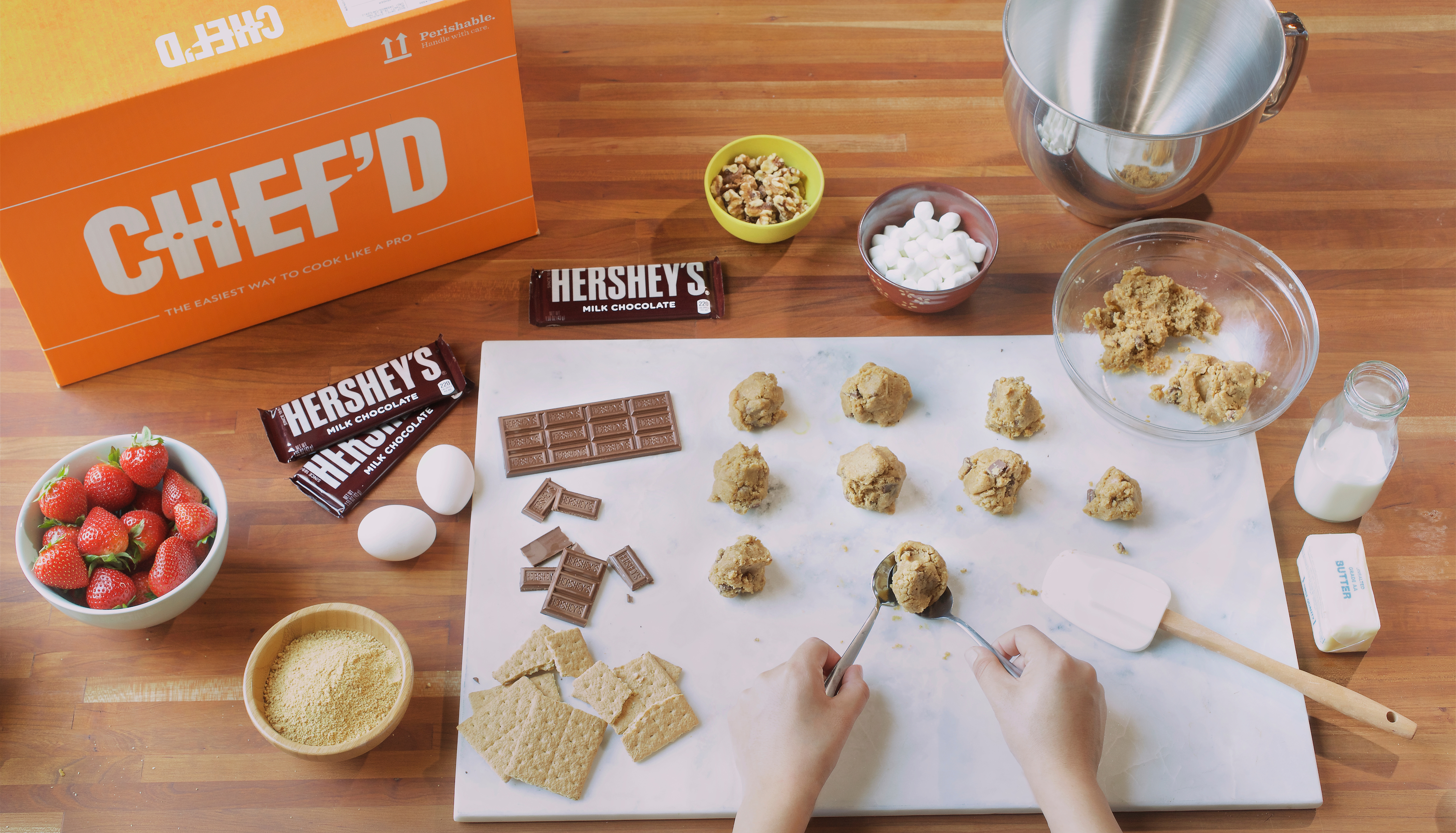 Chef'd and The Hershey Company partner to offer iconic branded desserts to the meal kit market. (Photo: Business Wire)