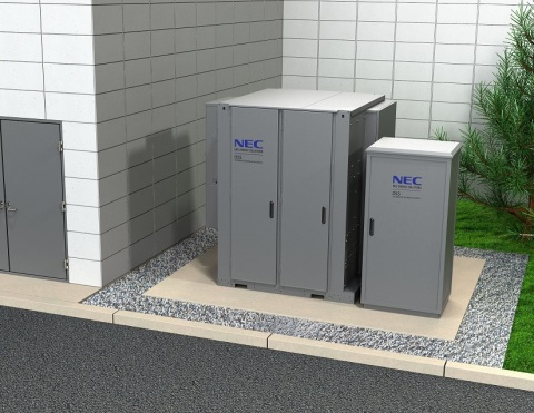 NEC Energy Solutions DSS™ distributed energy storage platform, designed to empower commercial developers and utilities to deliver advanced energy services at the grid edge, is offered as a standardized, UL safety-certified, AC energy storage system in easy-to-install, preconfigured outdoor-rated enclosures, compliant with all relevant regulatory and environmental standards. (Photo: Business Wire)