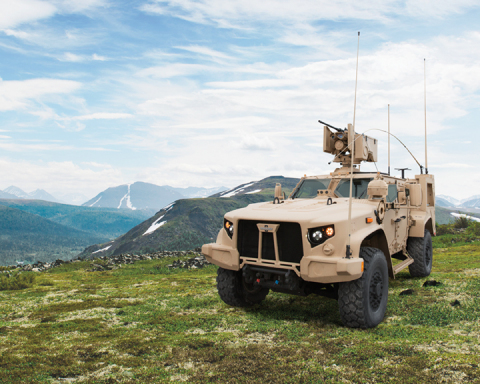 The Oshkosh JLTV delivers unprecedented off-road mobility and protection at an affordable price. (Photo: Business Wire)