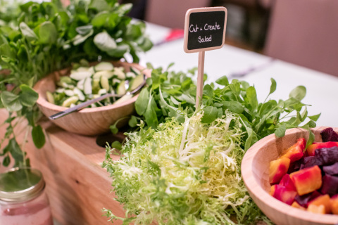 """The """"cut and create"""" salad bar, a new menu from Hilton's Meet with Purpose program at 40+ U.S. hotels (Photo: Business Wire)"""