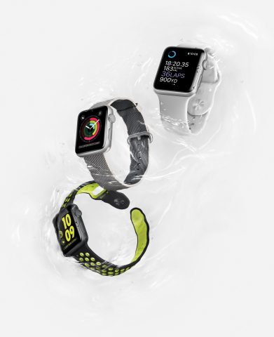 Apple Introduces Apple Watch Series 2. Featuring water resistance 50 meters for swimming, built-in GPS, two times brighter display, powerful dual-core processor and watchOS 3 (Photo: Business Wire)
