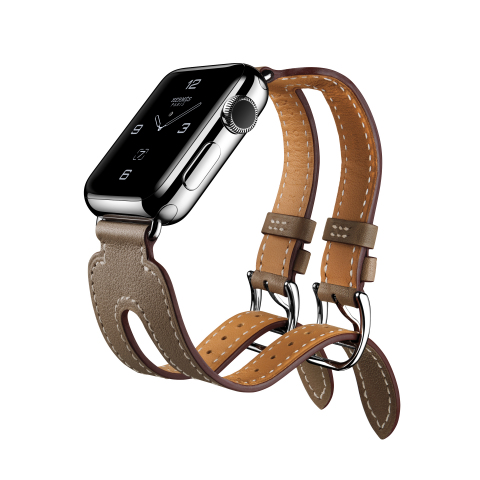 Apple Watch Hermès Introduces the Double Buckle Cuff (Photo: Business Wire)