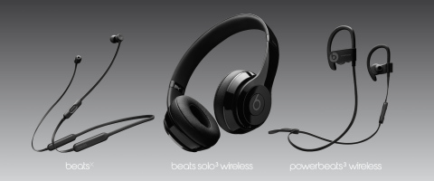 Beats by Dr. Dre's new collection of wireless products boasts integrated Apple W1 chip, Class 1 Bluetooth, extended battery life, Fast Fuel charge, and the premium sound experience that is now synonymous with Beats. (Graphic: Business Wire)