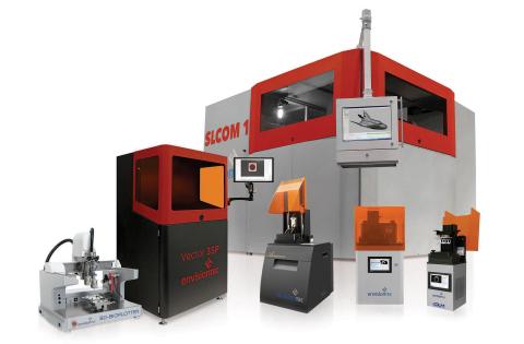 EnvisionTEC's new printers through September 2016: From left, the 3D-Bioplotter® Starter Series; the ...