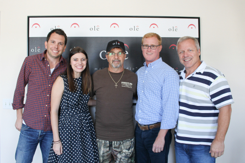 (L-R) Ben Strain (ole Creative Director), Emily Mueller (ole Creative Manager), Songwriter/Producer Phil O'Donnell, John Ozier (ole VP, Creative) and Mike Whelan (ole Sr. Director, Creative) (Photo: Business Wire)