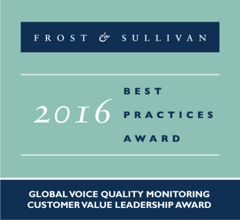 Frost & Sullivan Best Practices Award 2016 (Photo: Business Wire)