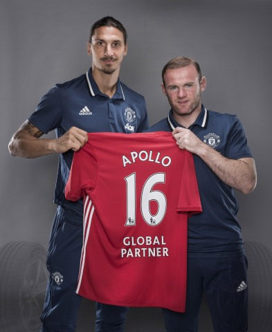 (Zlatan Ibrahimovic and Wayne Rooney) Apollo Tyres is now the 'Global Tyre Partner' for Manchester U ...