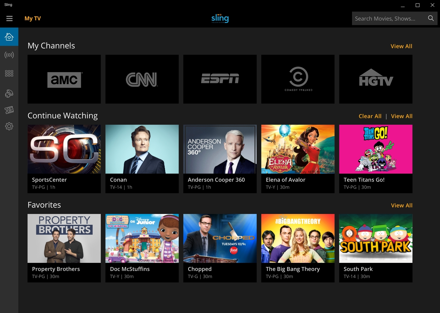 Sling TV Adds Pac-12 Networks, Starz and a Windows 10 App