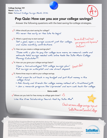"Sallie Mae's ""Ace Your College Savings"" pop quiz (Graphic: Business Wire)"