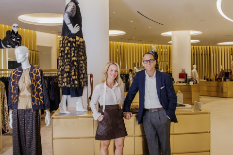 SAKS CHIEF MERCHANT TRACY MARGOLIES & SAKS PRESIDENT MARC METRICK (Photo: Business Wire)