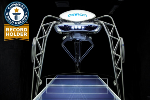 "Omron's table tennis robot FORPHEUS certified by Guinness World Records(R) as the world's ""first robot table tennis tutor"" (Photo: Business Wire)"