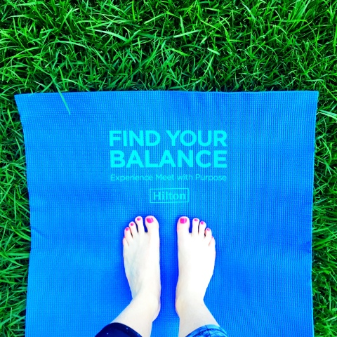 "Hilton now offers a ""Yoga & Yogurt"" menu through its Meet with Purpose program at 40+ U.S. hotels (Photo: Business Wire)"