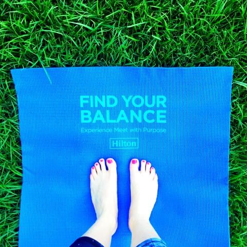 "Hilton now offers a ""Yoga & Yogurt"" menu through its Meet with Purpose program at 40+ U.S. hotels (Photo: Business Wire)"
