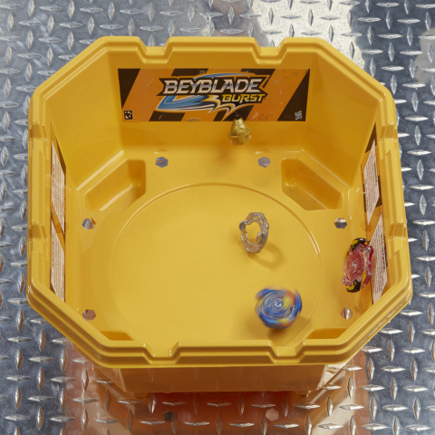 The BEYBLADE BURST product line from Hasbro features a dynamic