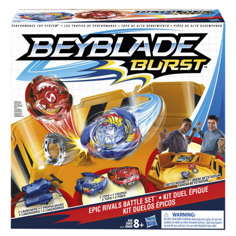 """The BEYBLADE BURST product line from Hasbro features a dynamic """"burst"""" feature designed to bring more excitement to the successful battling play pattern. (Photo: Business Wire)."""