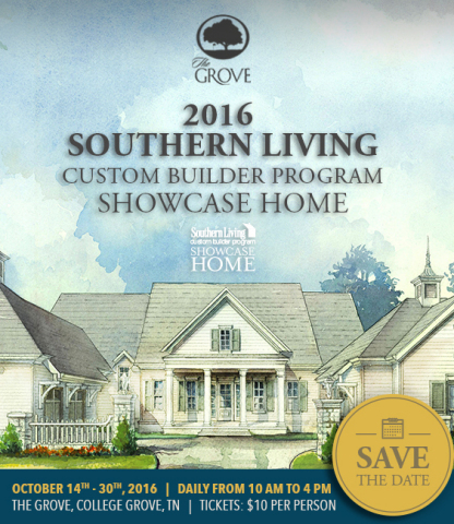2016 Southern Living Custom Builder Program Showcase Home in The Grove community (Graphic: Business Wire)