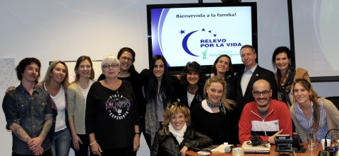 The staff and volunteer leadership from the American Cancer Society and the Peluffo-Guiguens Foundation following a two day training on Relay For Life in Montevideo, Uruguay. (Photo: Business Wire)