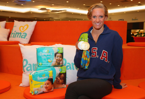 Pampers Congratulates Dana Vollmer, U.S. Olympic Swimmer and New Mom, For Winning Bronze, Silver and Gold Medals at the Rio 2016 Olympic Games (Photo: Business Wire)
