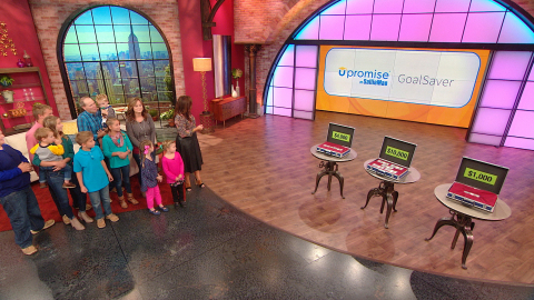The Culley Family of Alton, Virginia, on The Rachael Ray Show, about to be surprised with $90,000 fo ...