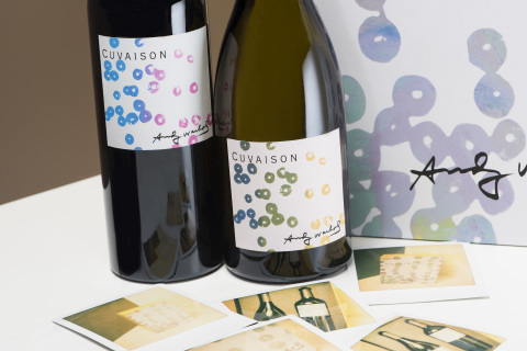The first Andy Warhol by Cuvaison Collection will be released this fall, featuring a 2014 Chardonnay from the Carneros Estate and a 2014 red Bordeaux blend from its Brandlin Vineyard on Mount Veeder. (Photo: Business Wire)