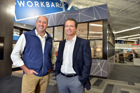 From left, Bill Jacobson, CEO and co-founder, Workbar and Peter Scala, Executive Vice President, Mer ...