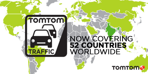 TomTom Expands its Traffic Service to India and Bulgaria (Photo: Business Wire)