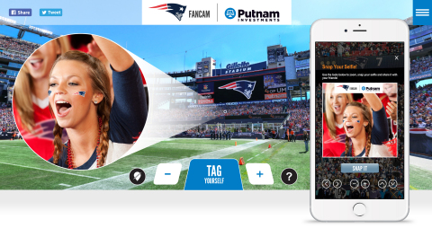 Every Patriots fan at every home game in one 360° super-sized selfie -- Patriots Fancam is back for the season. (Graphic: Business Wire)