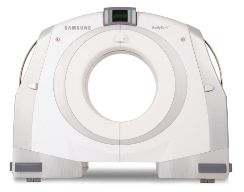 As the world's first portable, full-body, 32-slice CT (computed tomography) scanner, BodyTom® is a multi-departmental imaging solution capable of transforming any room in the hospital into an advanced imaging suite. (Photo: Business Wire)
