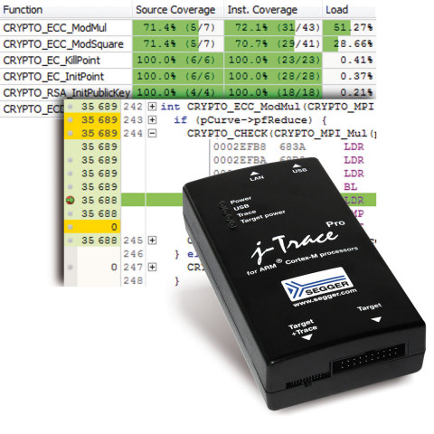 SEGGER:Market-Leading J-Trace PRO Now Enables Live Profiling & Code Coverage (Graphic: Business Wir ...