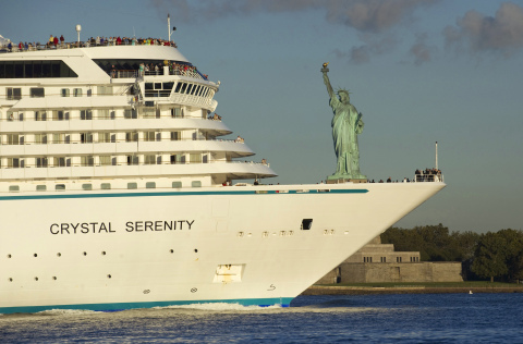 Crystal Serenity Arrival in New York City (Photo Credit: Diana Bondareff, Crystal Cruises)
