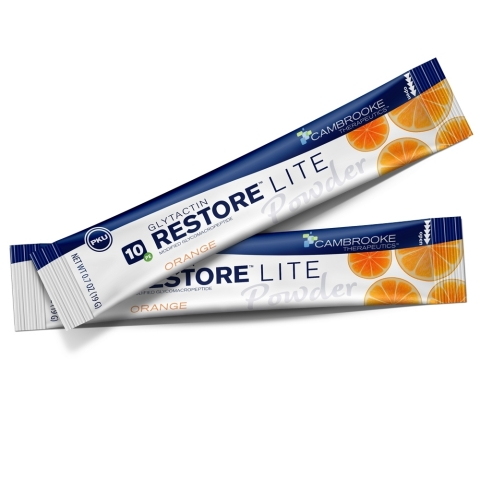 Cambrooke's Glytactin RESTORE Lite Powder™ comes in a delicious, all-natural orange flavor. (Photo: Business Wire)