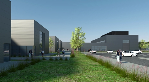 Computer simulation of GE Healthcare's planned BioPark in Cork, Ireland. (Photo: Business Wire)