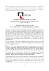 This PDF contains the full text of the announcement.