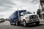 Sales of Ford F-650 and F-750 trucks are up 59 percent year-over-year through August 2016 – the best year-to-date sales total for Ford's largest trucks since August 1997. A new dedicated tractor model is attracting growing interest from beverage fleets. (Photo: Business Wire)