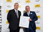 HRH Prince Andrew presenting the RAeC award to Imperas' Lee Moore (Photo: Business Wire)