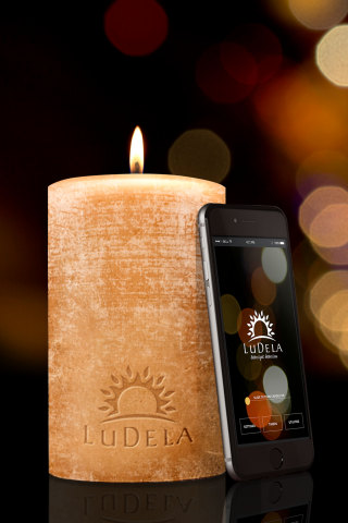 LuDela world's smartest and safest real-flame candle with Wi-Fire (Photo: Business Wire)