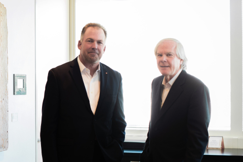 DLR Group CEO Griff Davenport, AIA (left) and Westlake Reed Leskosky Managing Principal Paul Westlake, FAIA (right). The two firms share a common culture of design, sector-based studios, and a practice philosophy grounded in integrated design. (Photo: Business Wire)