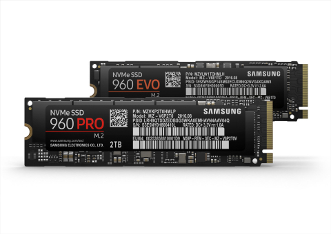Samsung 960 PRO and 960 EVO Solid State Drives (Photo: Business Wire)