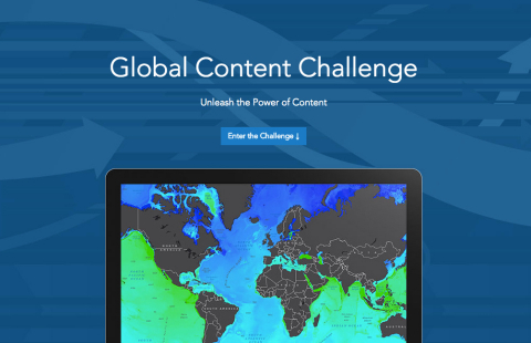 Smart mapping leader Esri announced it is engaging students all over the world in a new contest called the Global Content Challenge. (Graphic: Business Wire)