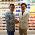 Left: Liu Xiaodong, Right: Taichi Iitsuka, Leader of Warehouse TERRADA Art Business Planning Project  (Photo: Business Wire)