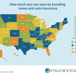 Nationwide Bundling Savings Map (Graphic: Business Wire)