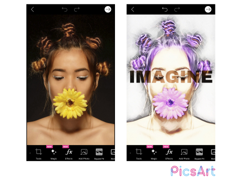 A new awesome photo editor from PicsArt offers AI-powered Magic Effects and 3,000+ editing features that transform images into works of art. (Graphic: Business Wire)